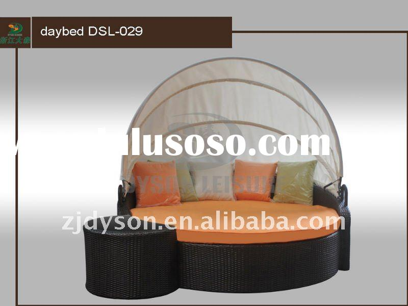 outdoor sun round bed