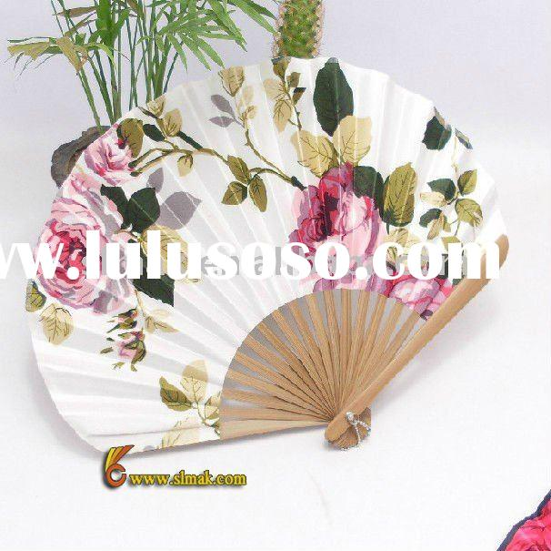 paddle hand fans, hand paddle fans, silk folding fans, hand fan template, personalized silk fans, ha