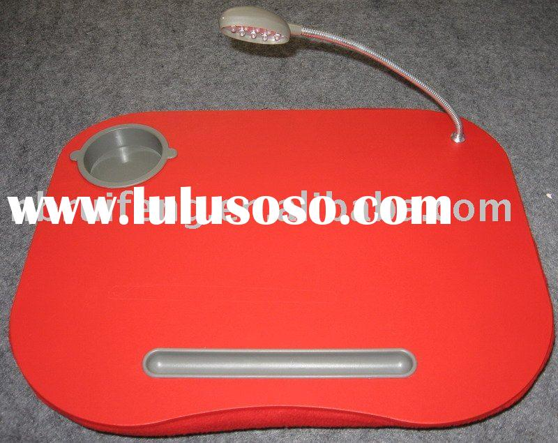 portable lap desk with led light