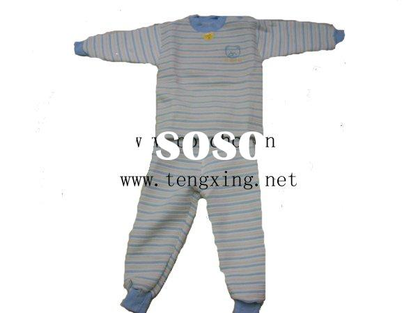pure cotton baby wear/baby thermal underwear/cloth