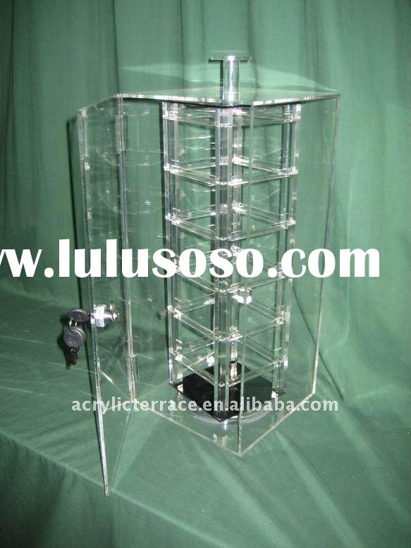 rotating acrylic jewelry display case