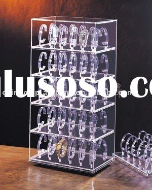 rotating acrylic watch display showcase