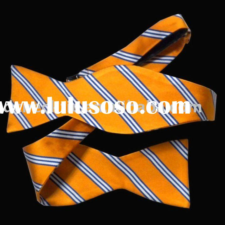 silk self tie bow