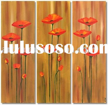simple flower group oil painting on canvas for decoration