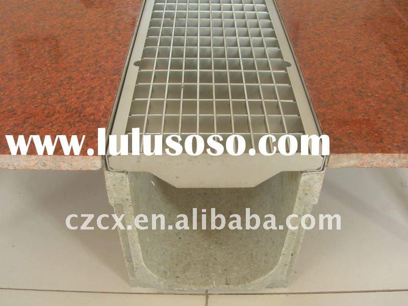 stainless steel grating shower drainage channel