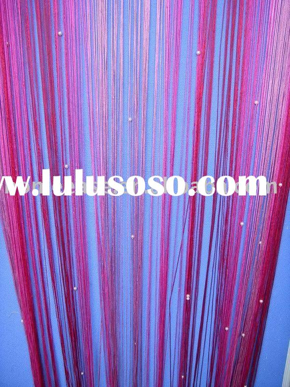string curtain with beads