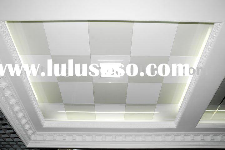 suspended gypsum ceiling with pvc facing, gypsum ceiling tiles, gypsum panel ,plaster ceiling ,