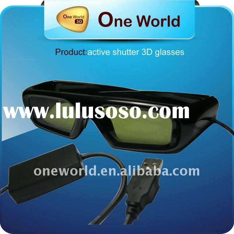 universal active shutter 3d glasses for DLP projector,pc,3d tvs and etc.