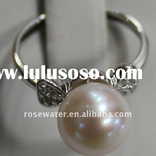 wholesale pearl farm price pearl rings,sterling silver ring settings