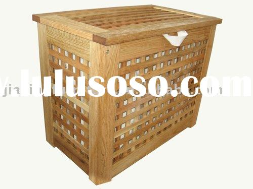 wood laundry basket
