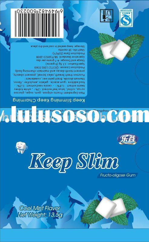 xylitol coated chewing gum sugar free + Ca
