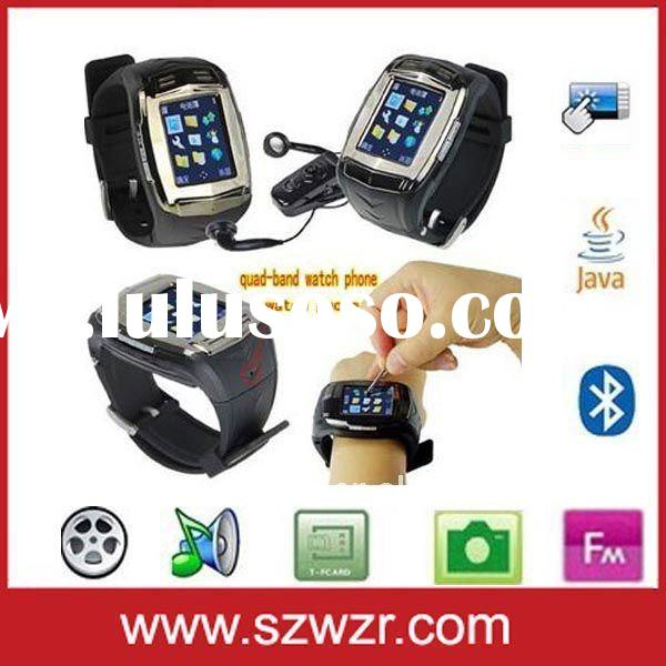 "007 Quad-band watch cell phone with Bluetooth, pinhole Camera and 1.5""touch screen"