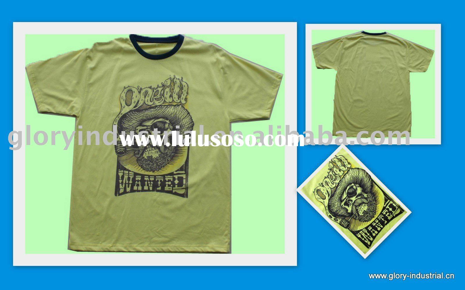 100 cotton and qulity screen printing t shirts