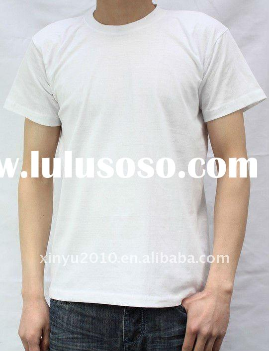 100%cotton cheap white blank t shirt for promotional