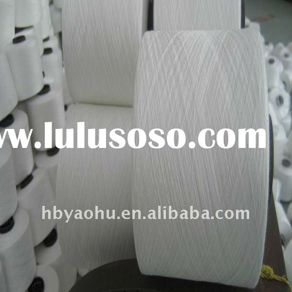 100% spun polyester yarn/sewing thread, 30s/2 raw white