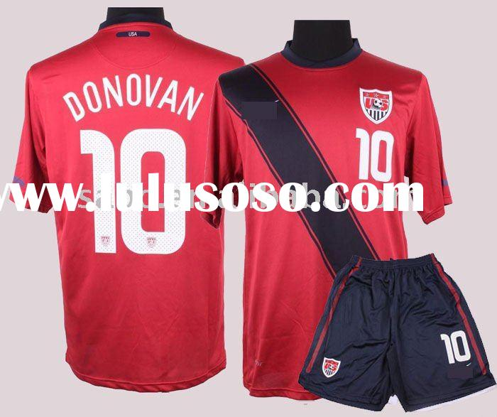 11/12 America away red 10# Donovan soccer jersey