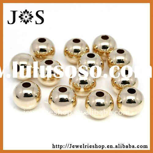 14k Gold Filled Round Spacer Smoothly Jewelry Bead Connector Findings 8mm