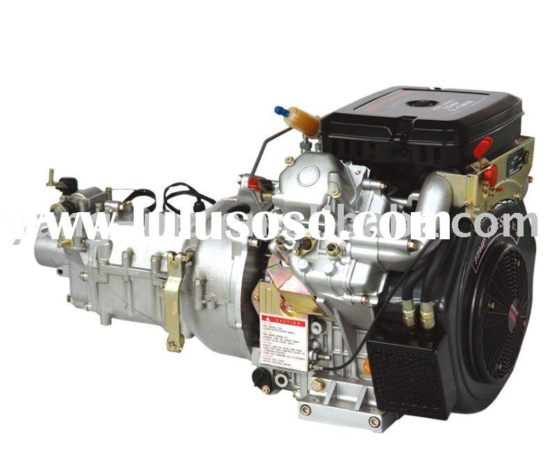 15HP air cooled 2 cylinder electric start horizontal /vertical shaft diesel engine with gear box
