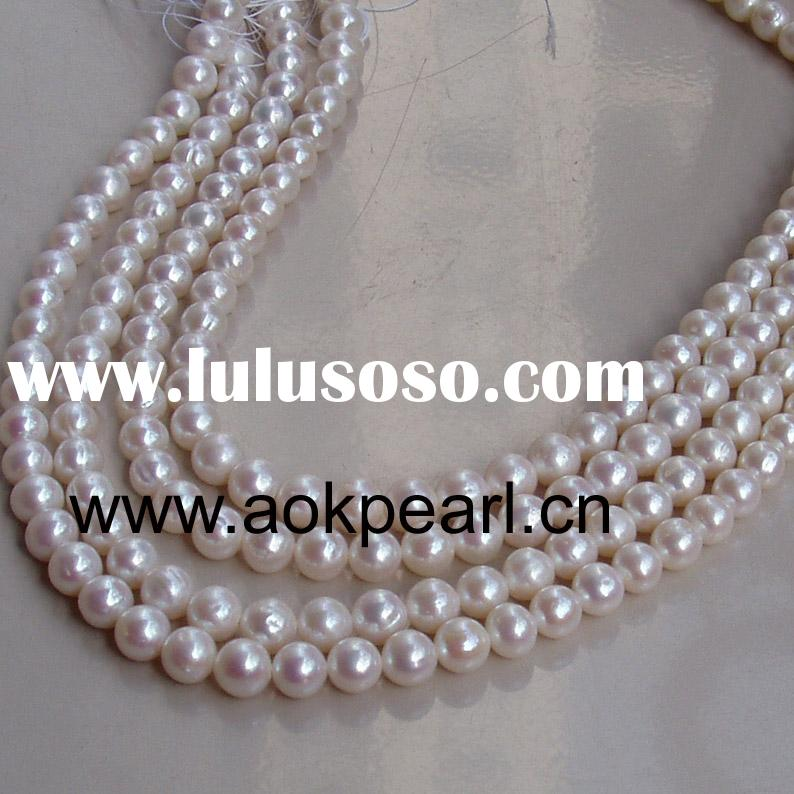16 inch 7-8mm round fresh water pearl