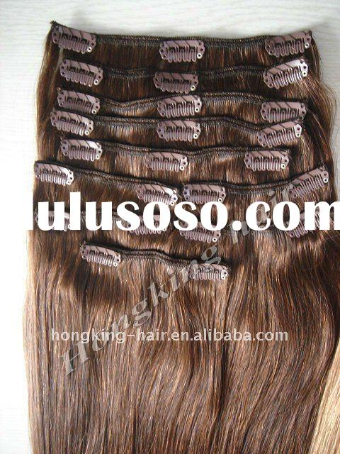 "18"" 100% Human Remy Clip-In Hair Extensions Wholesale"
