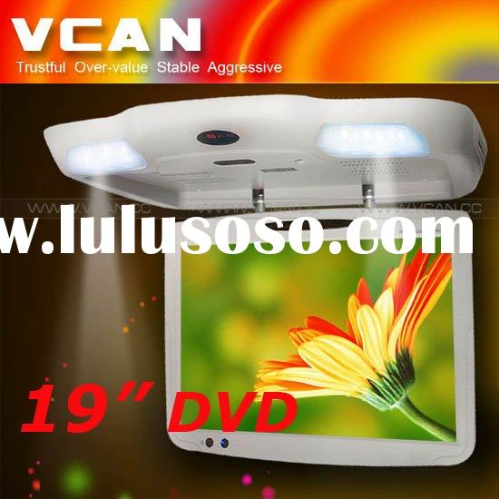 19 inch roof mount DVD with built in TV, Built FM, IR for car
