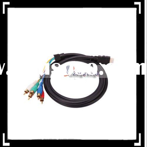 1.5 M HDMI Male To 5 RCA RGB Audio Video AV Component Cable