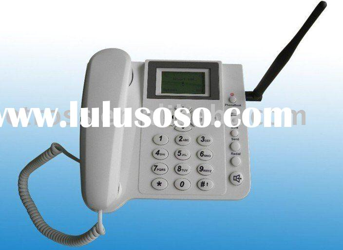 1 SIM Card GSM Fixed Wireless Phone Dual band 900/1800MHz or Quad band 850/900/1800/1900MHz (Two-way
