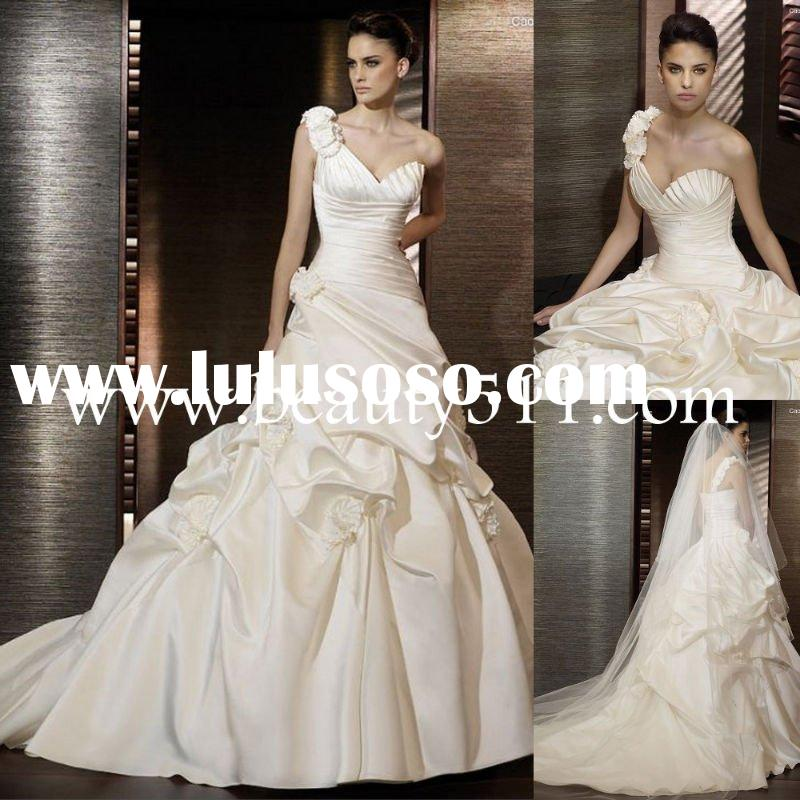 2010 fall gorgeous one strap wedding dress bridal gown WDAH0461
