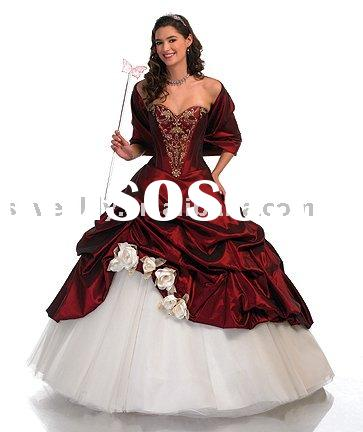 2010 fashion Red Wedding Dresses