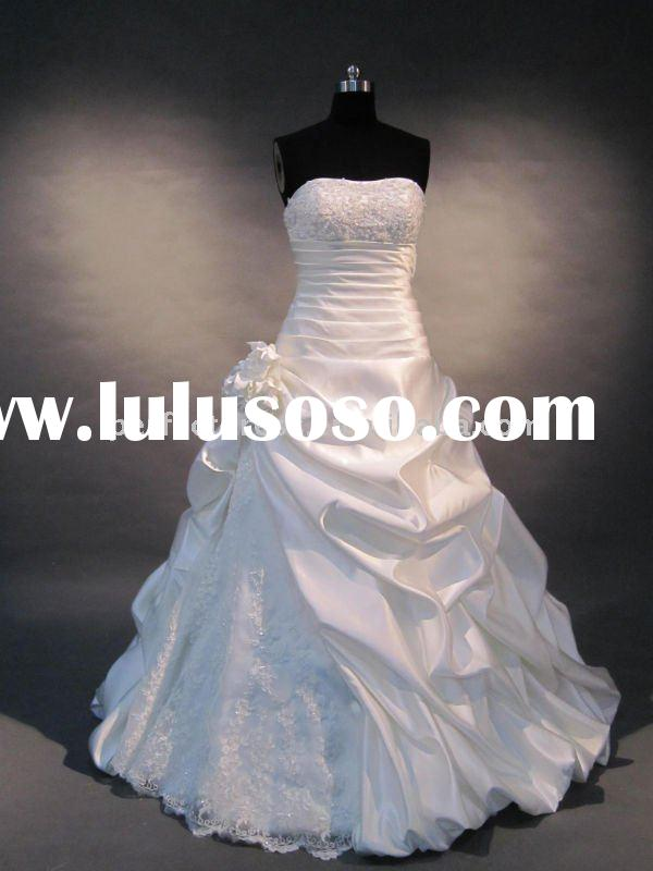 2011 Beaded lace Real sample wedding dresses
