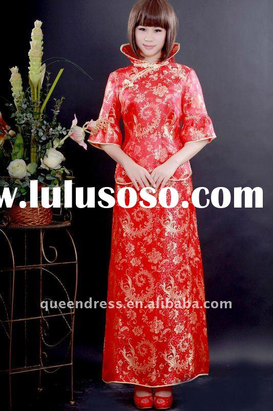 2011 Fashion style chinese cheongsam wedding dress/ bridal gowns fashion wedding dresses for Autumn
