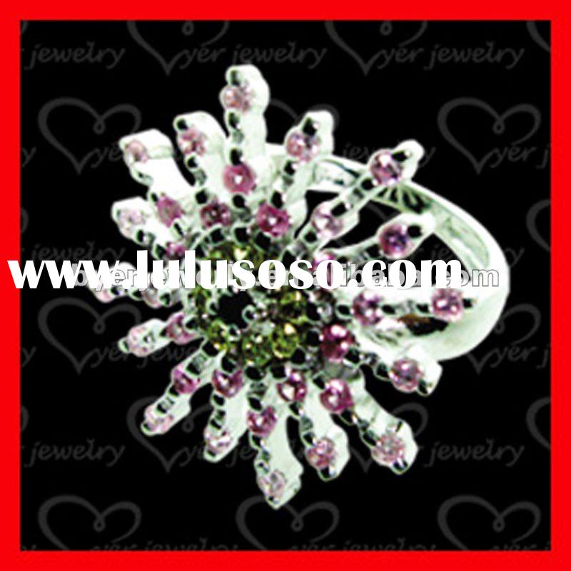 2011 Hot design fashion 925 sterling silver rings jewelry manufacturing