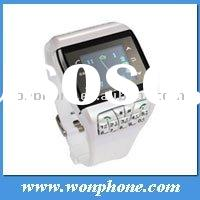 2011 New Dual Sim card Wrist Watch Mobile phone Q9 Quadband With Compass