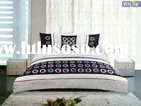 2011 New! Embroidery Bedding&3 Pcs & sequins& rope duvet cover sets