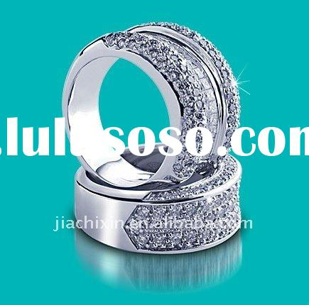 2011 New Fashion 18 Carat White Gold Pure Diamond Band Rings