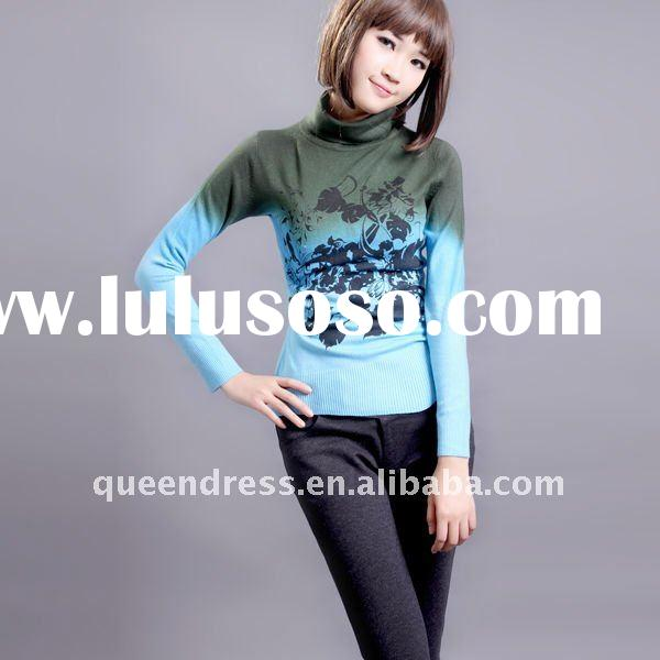 2011 New Fashion Hand-painted Unique Crane Dye Sweater/Improved Tang Suit In Autumn/Winter/Elegant A