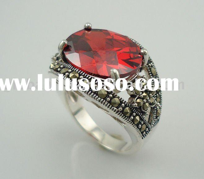 2011 New Style 925 Sterling Silver Fashion Jewelry Ring With 13pcs Marcasite