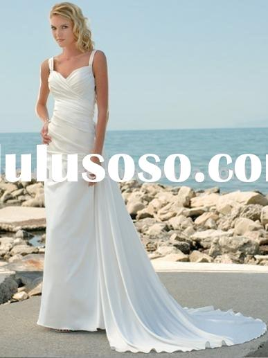 2011 New style high quality A-line sweetheart neckline backless chiffon wedding dress (WD10395)