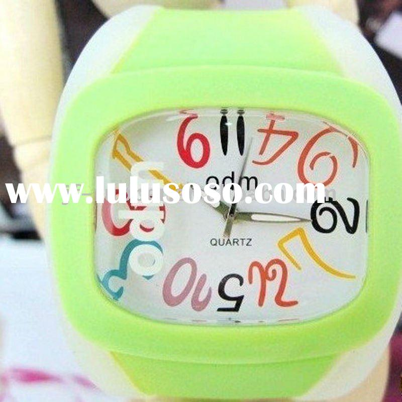 2011 fashion waterproof silicone bracelet watch band