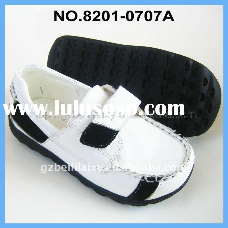 2011 high quality and fashion design genuine leather children shoe
