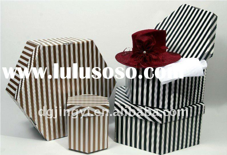 2011 hot sell gift paper packaging hat box