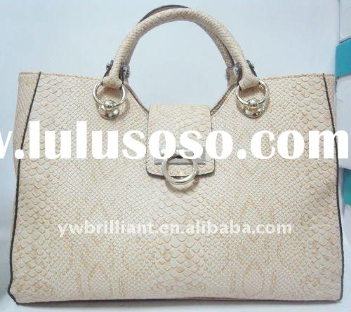 2011 latest ladies tote fashion handbag, crocodile handbags
