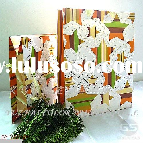 2011 new design printed paper wedding gift bags for promotion