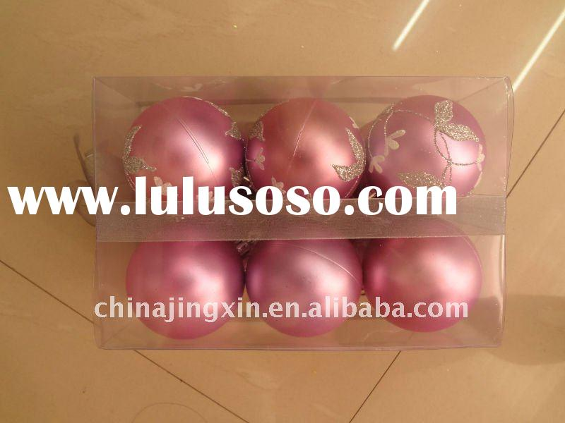 2011 promotion Plastic Decorative Christmas ball/Xmas tree decor items