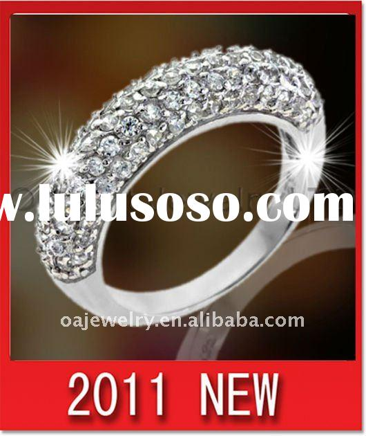 2011 top quality fashion sterling silver 925 ring lady CZ jewelry