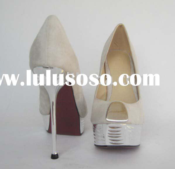 2011 white platform suede fashion high heel shoes G109 DROP SHIP