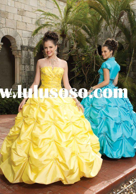 2012 Best Selling Taffeta with Embroidery victorian ball gown wedding dresses