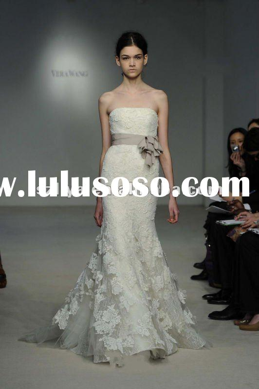2012 Elegant Off Shoulder Mermaid Lace Wedding dress