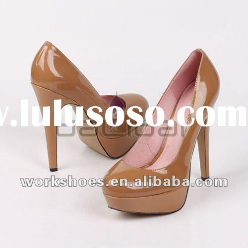 2012 Fashion platform high heel nude color women shoes
