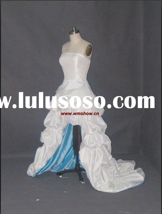 2012 Latest Style Strapless Strapless Front Short And Long Back Wedding Dress